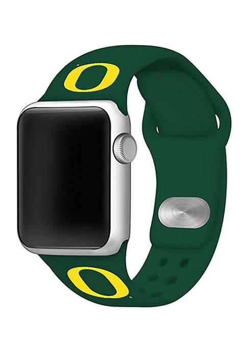 NCAA Oregon Ducks Silicone 42 Millimeter Apple Watch Band