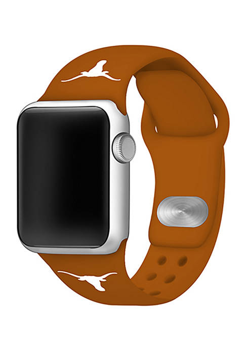 NCAA Texas Longhorns Silicone 42 Millimeter Apple Watch Band