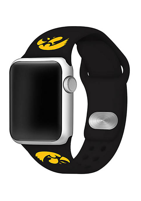 NCAA Iowa Hawkeyes Silicone 42 Millimeter Apple Watch Band