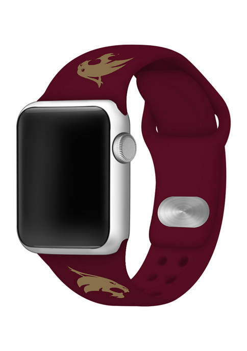 NCAA Texas State Bobcat Silicone Apple Watch Band