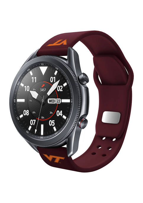 NCAA Virginia Tech Hokies 20 Millimeter Silicone Band Compatible with Samsung Watch