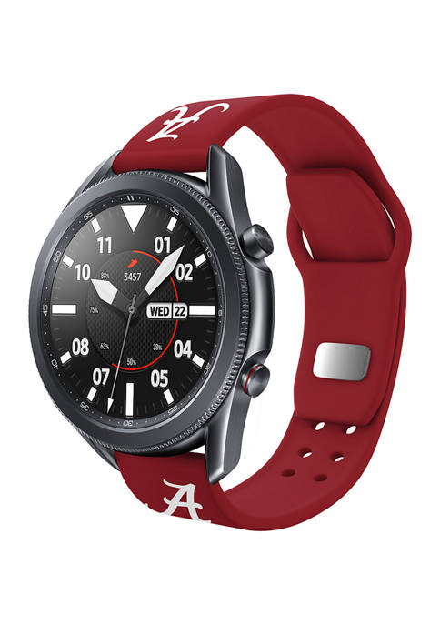 NCAA Alabama Crimson Tide 20 Millimeter Silicone Band Compatible with Samsung Watch