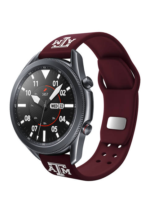 NCAA Texas A&M Aggies 20 Millimeter Silicone Band Compatible with Samsung Watch