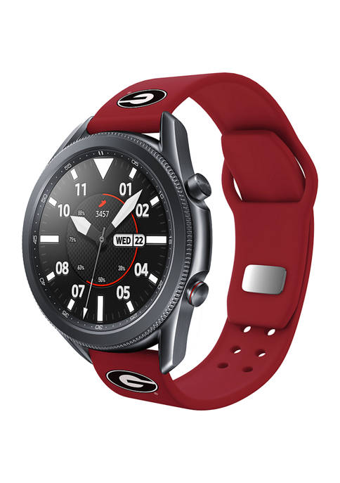 NCAA Georgia Bulldogs 20 Millimeter Silicone Band Compatible with Samsung Watch