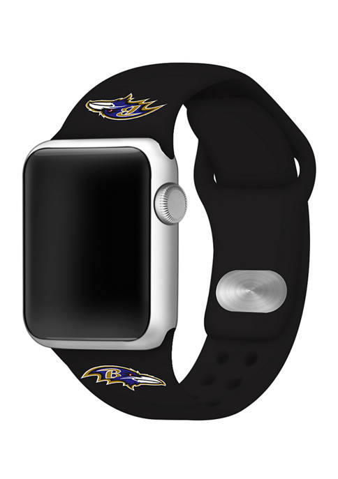 NFL Baltimore Ravens Silicone 38 Millimeter Apple Watch Band