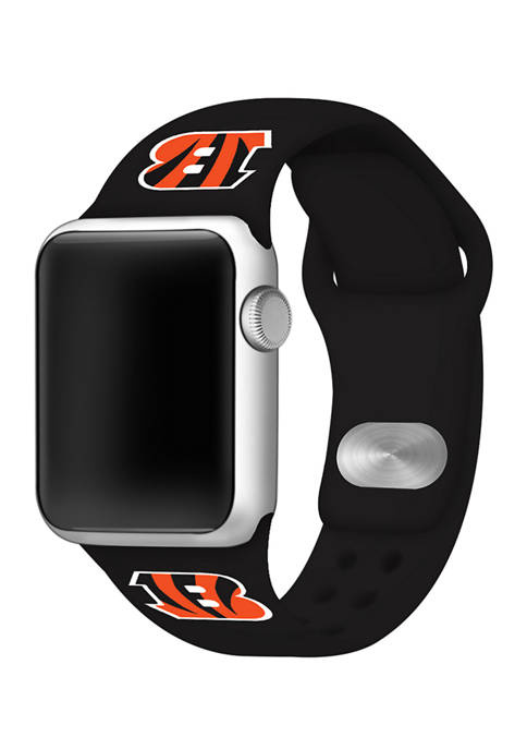 NFL Cincinnati Bengals Silicone 38 Millimeter Apple Watch Band