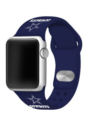 Affinity Bands Boys Nfl Dallas Cowboys Silicone 38 Millimeter Apple Watch Band