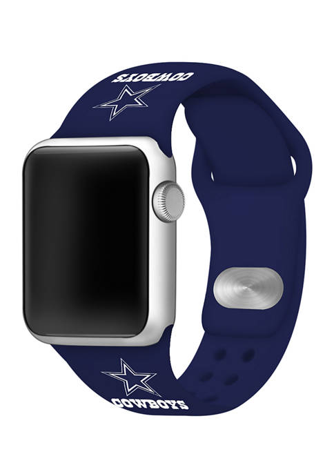 NFL Dallas Cowboys Silicone 38 Millimeter Apple Watch Band