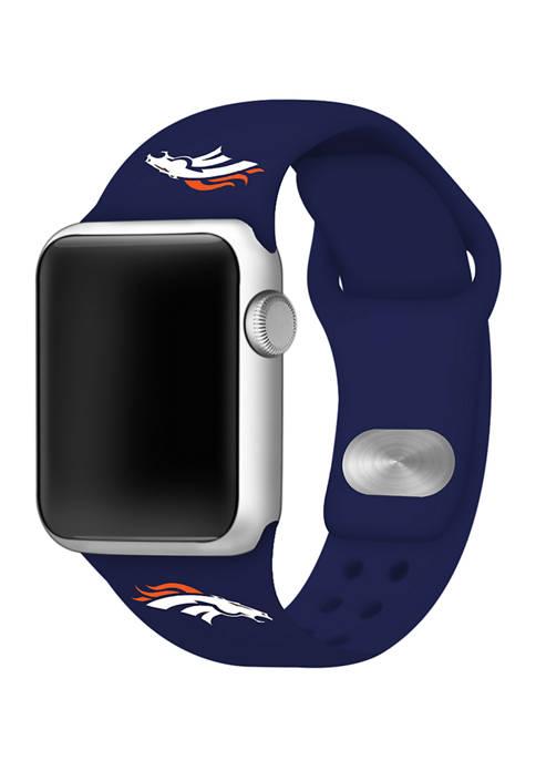NFL Denver Broncos Silicone 38 Millimeter Apple Watch Band