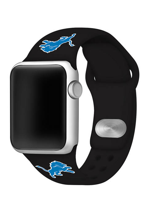 NFL Detroit Lions Silicone 38 Millimeter Apple Watch Band