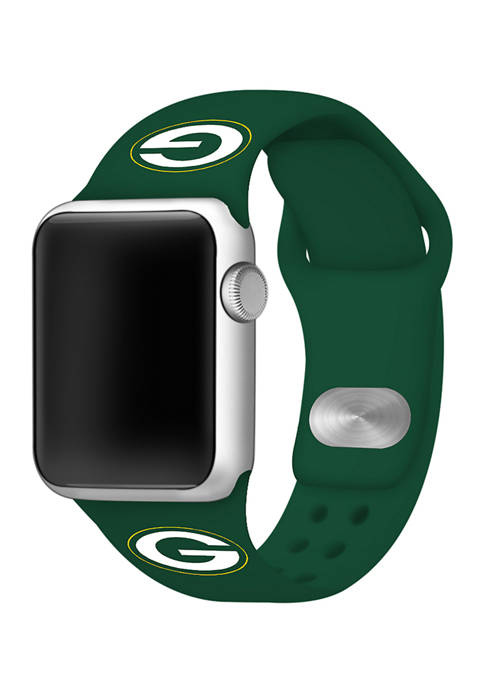 NFL Green Bay Packers Silicone 38 Millimeter Apple Watch Band