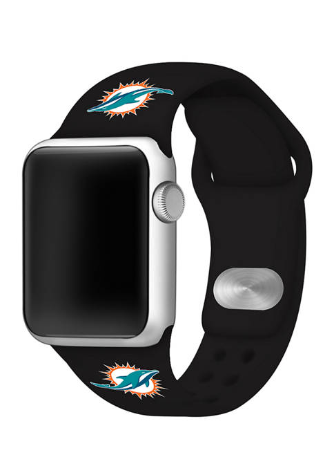NFL Miami Dolphins Silicone 38 Millimeter Apple Watch Band
