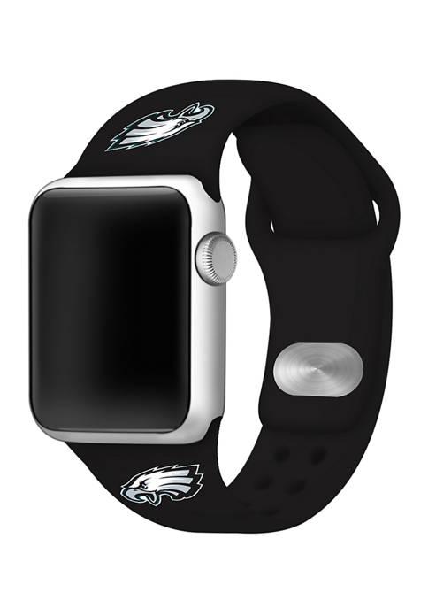 NFL Philadelphia Eagles 38 Millimeter Silicone Apple Watch Band