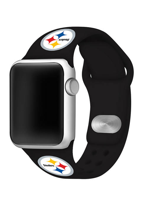 NFL Pittsburgh Steelers 38 Millimeter Silicone Apple Watch Band
