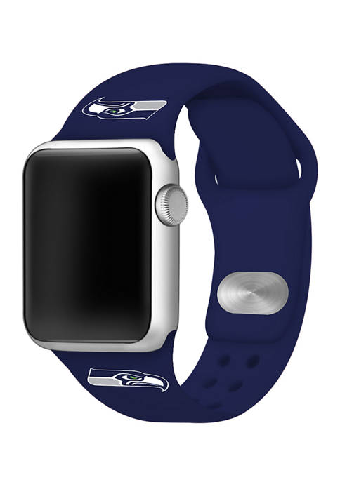 NFL Seattle Seahawks 38 Millimeter Silicone Apple Watch Band