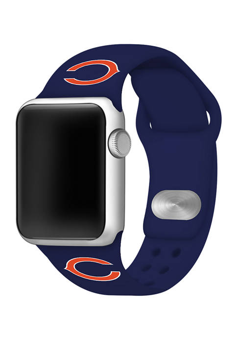 NFL Chicago Bears 42 Millimeter Silicone Apple Watch Band