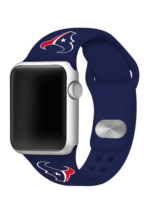 NFL Houston Texans 42 Millimeter Silicone Apple Watch Band