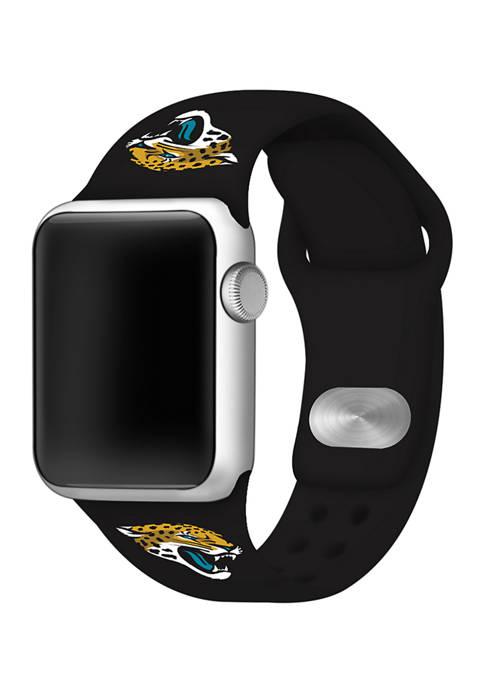 NFL Jacksonville Jaguars 42 Millimeter Silicone Apple Watch Band
