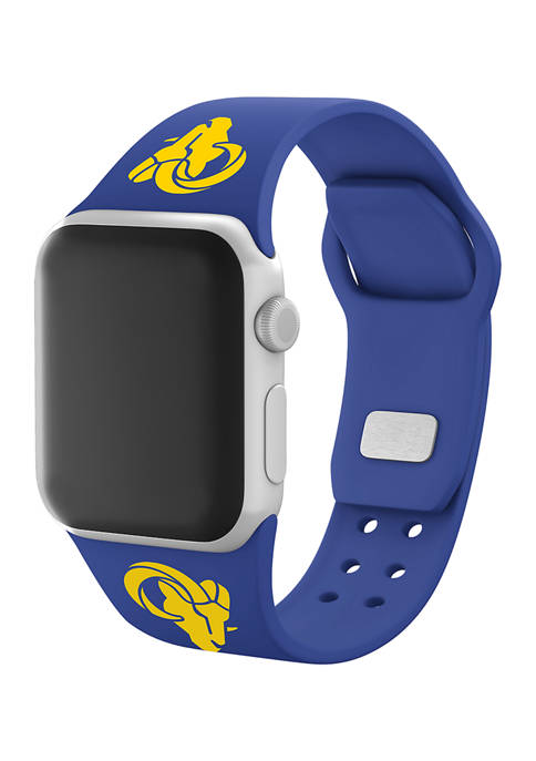NFL Los Angeles Rams 42 Millimeter Silicone Apple Watch Band