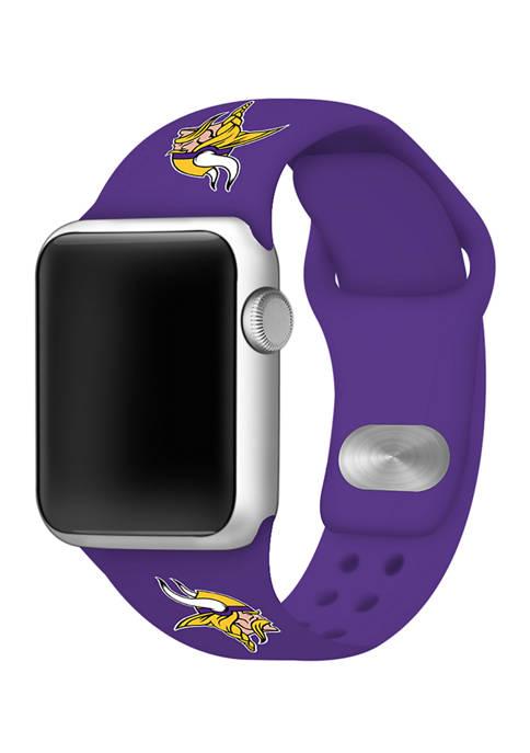 NFL Minnesota Vikings 42 Millimeter Silicone Apple Watch Band