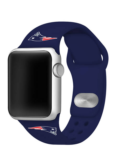 NFL New England Patriots 42 Millimeter Silicone Apple Watch Band