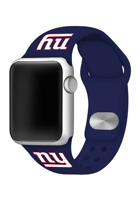 NFL New York Giants 42 Millimeter Silicone Apple Watch Band