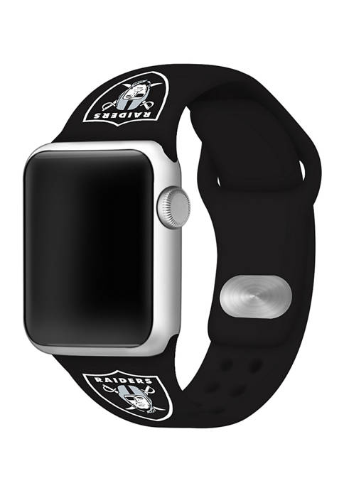 NFL Oakland Raiders 42 Millimeter Silicone Apple Watch Band