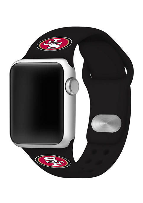 NFL San Francisco 49ers 42 Millimeter Silicone Apple Watch Band
