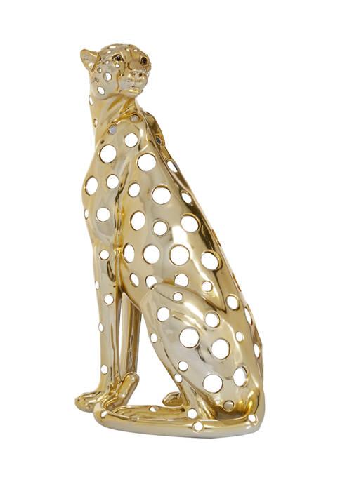 Polystone Glam Leopard Sculpture