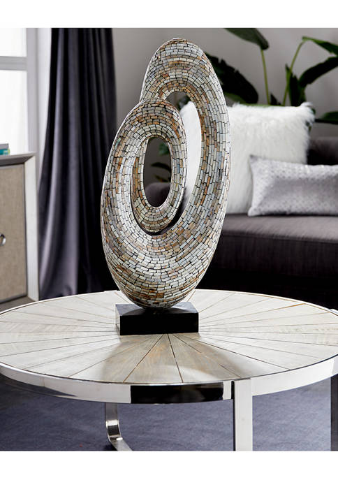 Monroe Lane Mother of Pearl Abstract Sculpture