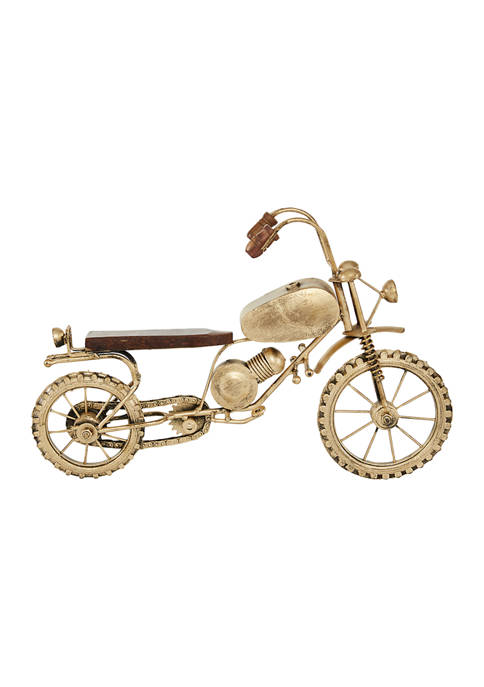 Metal Traditional Motorcycle Sculpture