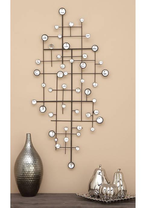 Monroe Lane Geometric Glass Bead Wall Décor