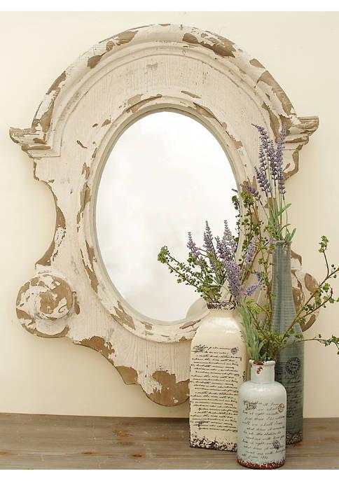 Farmhouse Antique Fiberglass Wall Mirror