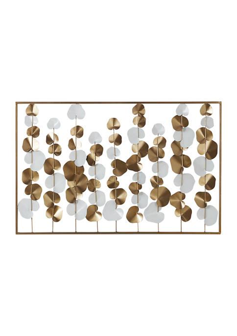 Monroe Lane Large Metal White And Gold Rectangular