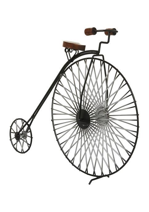 Monroe Lane Industrial Metal Big Wheel Bicycle Sculpture