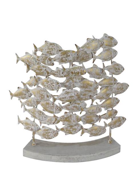 Monroe Lane Metal Coastal Fish Sculpture