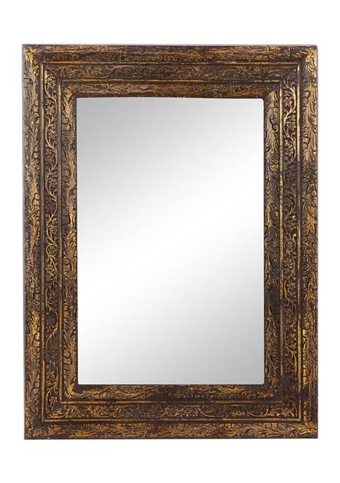 Monroe Lane Antique Style Rectangular Wood Wall Mirror
