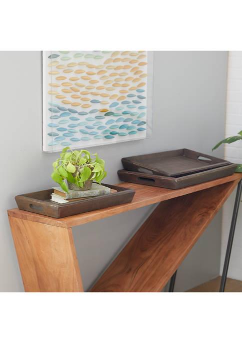 Monroe Lane Mango Wood Contemporary Tray