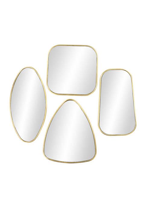 Monroe Lane Large Geometric Metallic Gold Wall Mirrors,