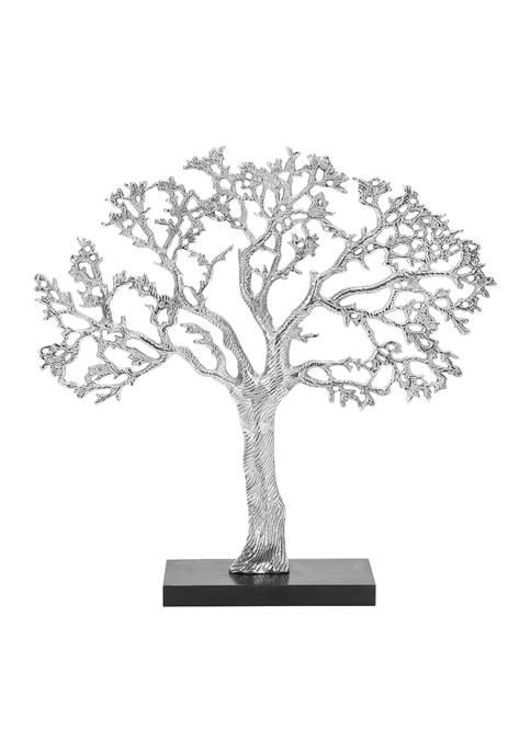 Monroe Lane Contemporary Aluminum and Wood Tree-Inspi Sculpture