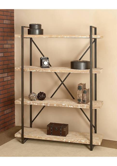 Monroe Lane Distressed Wood Shelf