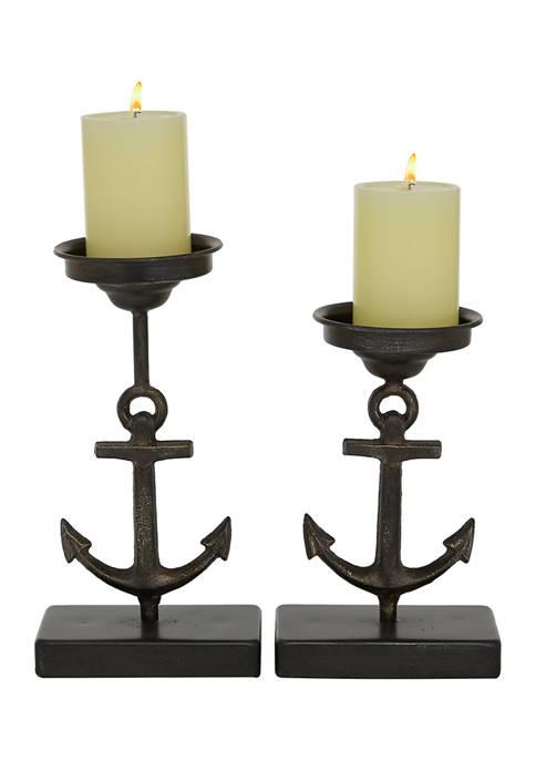 Monroe Lane Iron Coastal Candle Holder Set of
