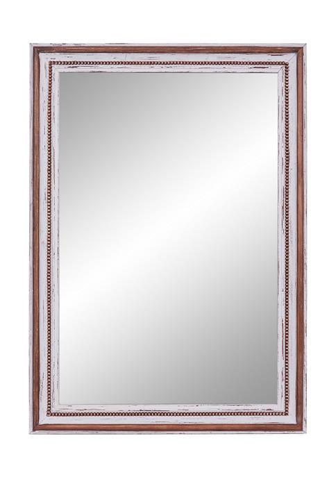 Monroe Lane Deep Brown Rectangular Wood Wall Mirror