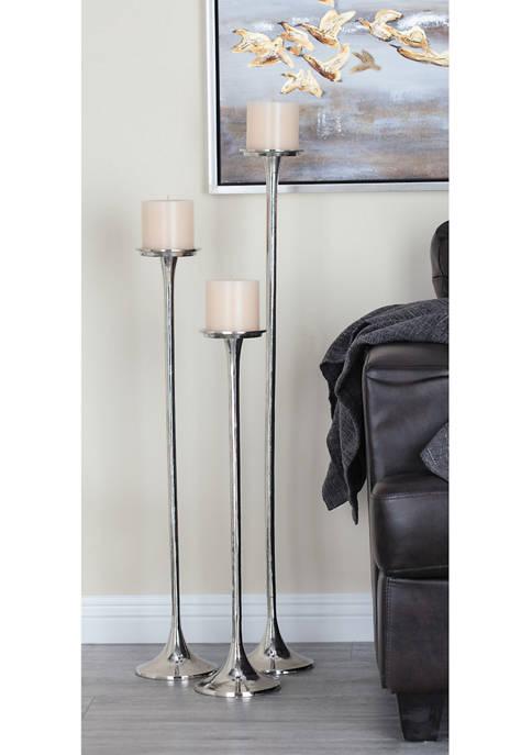 Aluminum Candle Holders - Set of 3