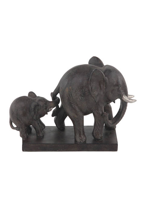 Monroe Lane Eclectic Polystone Elephant Sculpture