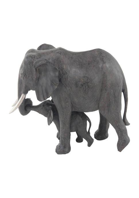 Monroe Lane Dark Eclectic Polystone Elephant Sculpture