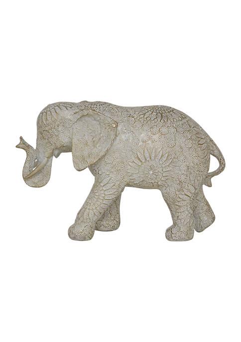 Monroe Lane Resin Eclectic Elephant Sculpture