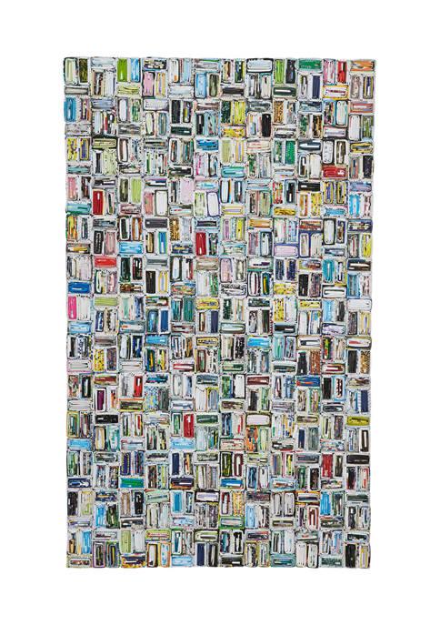 Monroe Lane Rectangular Colorful Magazine Abstract Art Modern