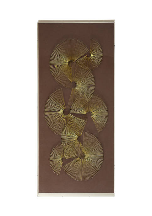 Monroe Lane Large Brown and Gold Thread Fans
