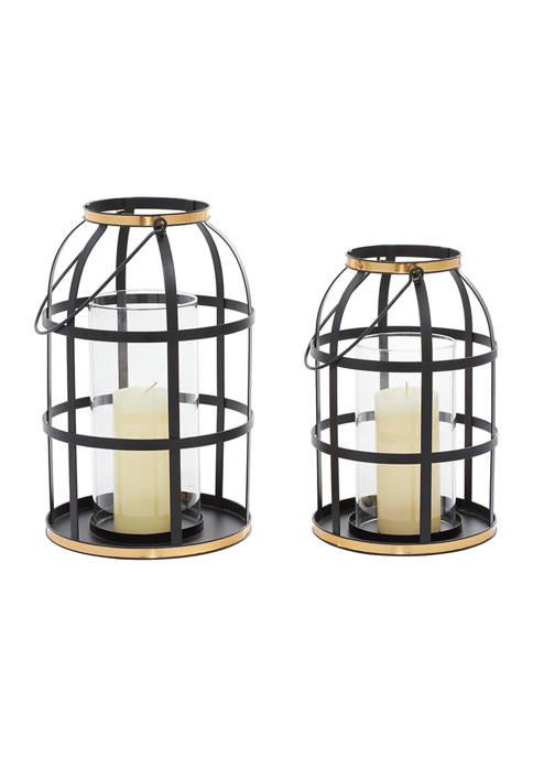 Metal Industrial Lantern - Set of 2